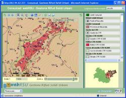 webRSU Open - Gestione Rifiuti Solidi Urbani realizzata con il  motore web/gis open source Mapserver