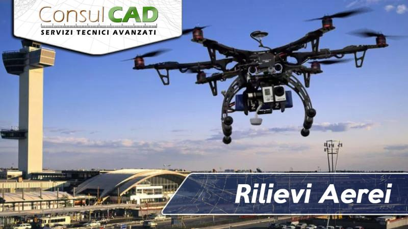 Rilievi aerei con drone a pilotaggio remoto certificato