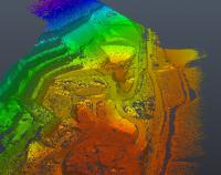 Rilievo area di cava e zone boscate per studio progetto di ampliamento nel Comune di Foligno