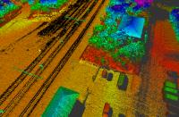 Drone con Lidar per rilievo tratto ferroviario