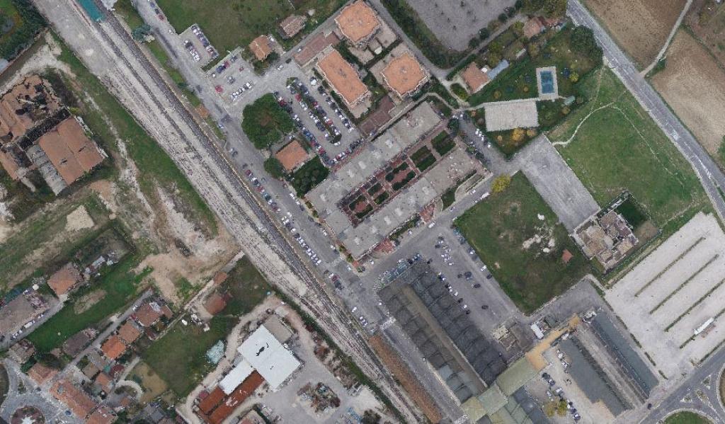 Rilievoaereo con drone e scanner lidar -Teatro Lyrick nel Comune di Assisi (PG)