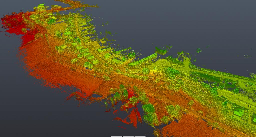 Rilievi aerei con Drone e sensore LIDAR: viabilità stradale Comune di Assisi (PG)